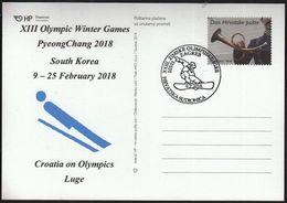 Croatia Zagreb 2018 / XIII Olympic Winter Games PyeongChang South Korea / Croatia On Olympics / Luge - Jeux Olympiques