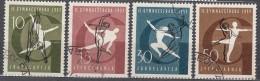 Yugoslavia Republic 1957 Sport Mi#823-826 Used - 1945-1992 Socialistische Federale Republiek Joegoslavië