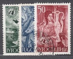 Yugoslavia Republic Art 1953 Mi#714-716 Used - Gebruikt