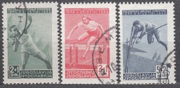 Yugoslavia Republic 1948 Sport - Athletic Mi#557-559 Used - Gebruikt