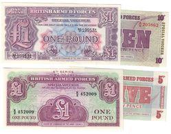 Great Britain Military Lot 4 Banknotes UNC  .C. - Forze Armate Britanniche & Docuementi Speciali