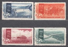 China People's Republic 1957 Mi#354-357 No Gum As Issued, Never Hinged - 1949 - ... République Populaire