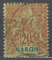 Gabon 1904 Yvert#22 Used - Gebruikt