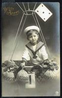 ENFANT - Garçonnet Dans La Nacelle D'un Ballon Dirigeable - Circulé - Circulated - Gelaufen - 1910. - Enfants