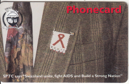 SWAZILAND(chip) - Against AIDS, Exp.date 31/03/02, Used - Swaziland
