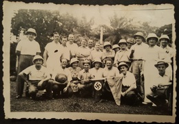 Very Old Orig. Photo WW II Duchessa D  Aosta 1941. Italian Soldiers Golfo Di Guinea West Africa RR Svastika Natzi Faschi - Photography