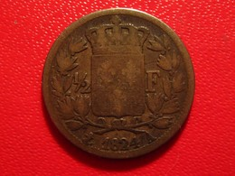 France - 1/2 Franc 1824 A Paris Louis XVIII 5486 - France