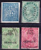 ETATS PRINCIERS De L'INDE - Protectorat Britannique - JHIND - JIND - 1876 N° 6 - 1885 N° 26 - Service N° 26 Et 27 - Jhind