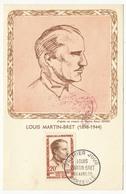 Carte Maximum - Louis MARTIN BRET - Premier Jour Marseille - 1959 - 1950-59