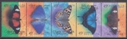 AUSTRALIA, 1998 BUTTERFLIES STRIP 5 MNH - Neufs