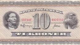 Danemark - Billet De 10 Kroner - H.C. Andersen - 7 Avril 1936 - Danemark