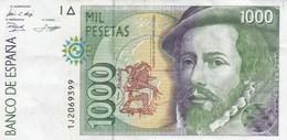 Espagne - Billet De 1000 Pesetas - Hernan Cortes & Francisco Pizarro - 12 Octobre 1992 - [ 4] 1975-… : Juan Carlos I