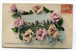CPA  51 : Camp De Chalons  ENVOI DE FLEURS    VOIR  DESCRIPTIF    §§ - Camp De Châlons - Mourmelon