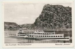 AK  Köln Düsseldorfer Rhein Dampfschiffahrt Motorschiff MS Wiesbaden Schiff 1954 - Non Classés