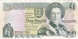 Jersey - Billet De 1 Pound - Elizabeth II - Non Daté - Jersey