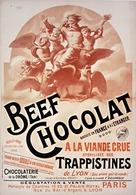 Beef Chocolat Trappistines De Lyon 1894 - Postcard Reproduction - Publicité