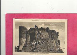 L'AUVERGNE POETIQUE - CHATEAU DE MUROLS ( Cote Ouest ) + 1 POEME SUR RECTO . NON ECRITE - France