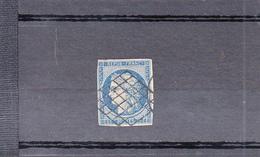 CERES 25C Bleu Emission De 1850  Dallay Num 7  Avec GRILLE - 1849-1850 Cérès