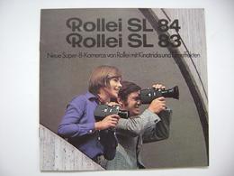 ROLLEI  Neue Super-8-Kameras SL 84 - SL 83, Technische Daten, Werbung 1970s - Appareils Photo