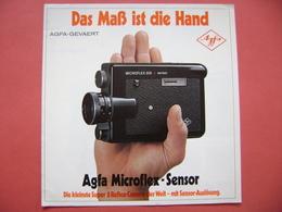 AGFA Microflex-Sensor - Die Kleinste Super 8 Reflex-Camera, Technische Daten, Werbung - Appareils Photo