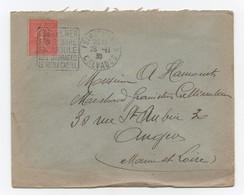 Flamme DAGUIN à Texte, 2 Chiffres: « Isigny/Mer, Son Beurre…….  » Sur Lettre De 1930 De Isigny/Mer (14) - Oblitérations Mécaniques (flammes)