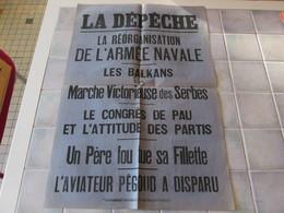 Affiche La Depeche 43 X 62 Cm - La Reorganisation De L Armee Navale Ect - Manifesti
