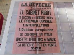 Affiche La Depeche 43 X 62 Cm - Le Cabinet Ribot   Ect - Affiches