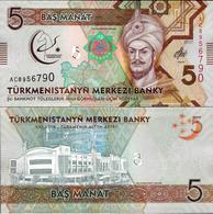 Turkmenistan 2017 - 5 Manat - Pick NEW UNC Commemorative - Turkmenistan