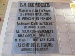 Affiche La Depeche 43 X 62 Cm - Le Discours D Aix Les Bains Et L Opinion Republicaine  Ect - Manifesti