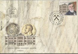 SRB 2016-654 125A°SERBIAN GEOLOGICAL SOCIETY, SERBIA, 1 X 1v, MNH - Geologie