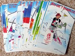 ALBERTVILLE 1992  XVI° Jeux Olympiques D'Hiver 8 - 23 Février JEU De 7 FAMILLES (incomplet 37 Cartes + 2) - Other