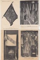 NAPOLEON  - 4 Cartes De Drapeaux  De Napoléon    : Achat Immédiat - Storia