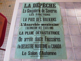 Affiche La Depeche 43 X 62 Cm - La Goujaterie De Saverne Les Sanctions Ect - Affiches