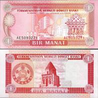 Turkmenistan 1993 ND - 1 Manat - Pick 1 UNC - Turkmenistan