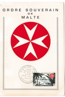 Brazzaville AEF 1957 - Ordre Souverain De Malte Et Lèpre - Malta - Carte Maximum - Lettre Brief Cover - A.E.F. (1936-1958)