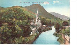 (65) Hautes Pyrénées - CPA - Lourdes - Le Gave Et La Basilique - Lourdes