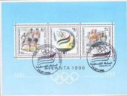 1996 Palestinian Olympics Games Atlanta Souvenir Sheets Special Stamp MNH - Palestine