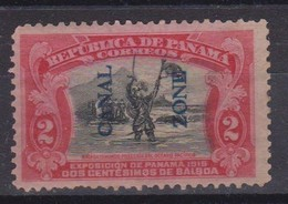 1915 Panama - 2 Scans Overprinted Canal Zone 1915 2 Cent Balboa Issue  Scott 43 , 1 Val. MH As Scans - Panama