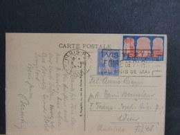 75/408  CP FRANCE POUR AUTRICHE 1934 - 1921-1960: Periodo Moderno