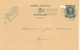 St Truiden  -  St Trond , Griffe Linéaire, Cachet Thienen - Tirlemont ,carte Publicité - Griffes Linéaires
