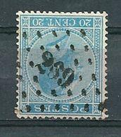 18 Gestempeld PT 269 NEUFCHATEAU - COBA 5,00 - 1865-1866 Profilo Sinistro
