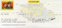 Chéque La POSTE - Edgar P. Jacobs / Blake Et Mortimer - Cheques & Traveler's Cheques