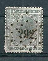 17 Gestempeld PT 292 PEPINSTER - COBA 6,00 - 1865-1866 Profilo Sinistro