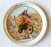 Sous Bock Vintage Métal Moto HONDA Cross AER Biscuits Bretagne - Motos