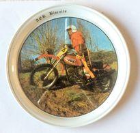Sous Bock Vintage Métal Moto 250 OSSA Cross Fina AER Biscuits Bretagne - Motos