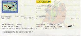 Chéque La POSTE - Fred / Philemon - Cheques & Traveler's Cheques