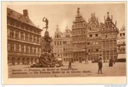 ANVERS - ANTWERPEN :  Fontaine Brabo Et Grand Place (Chocolat Martougin) - Antwerpen