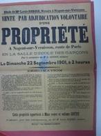 Affiche Nogent Sur Vernisson Loiret 45 Louis Serre Route De Paris Ecole Des Garçons 1901 Veuve Cotté - Affiches