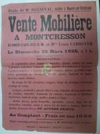 Affiche Nogent Sur Vernisson Loiret 45 Bonneval Montcresson Carroyer 1928 - Affiches