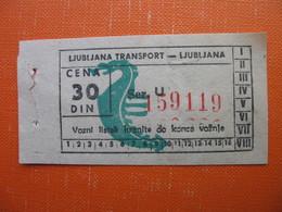 LJUBLJANA TRANSPORT - Transportation Tickets